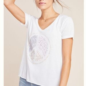 Anthropologie Peace Sign Tee